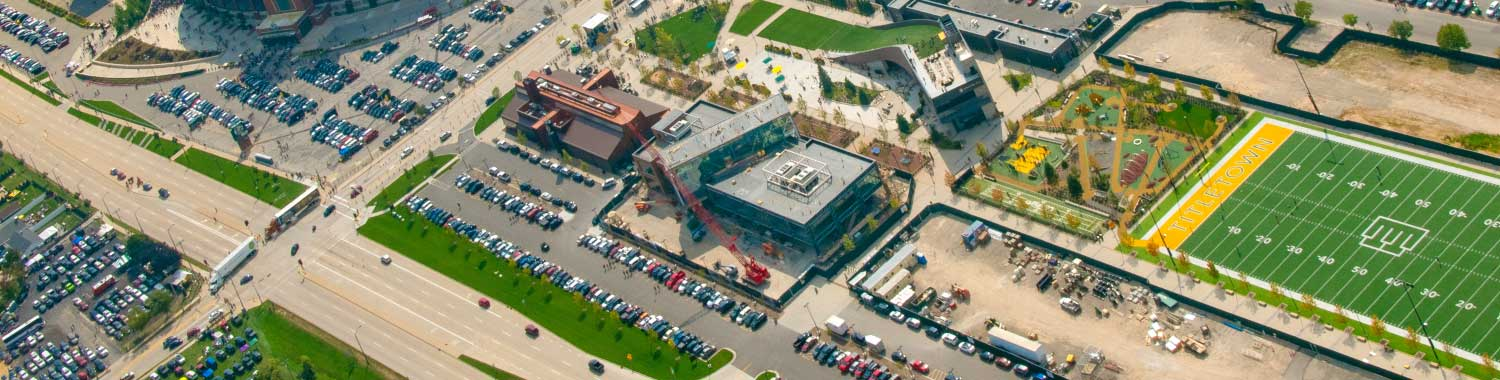 aerial picture of Titletown