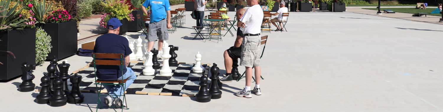 Playing chess at Titletown