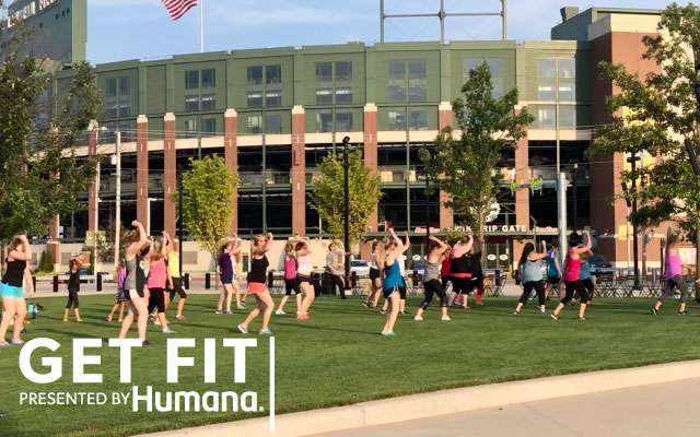 workout class at Titletown